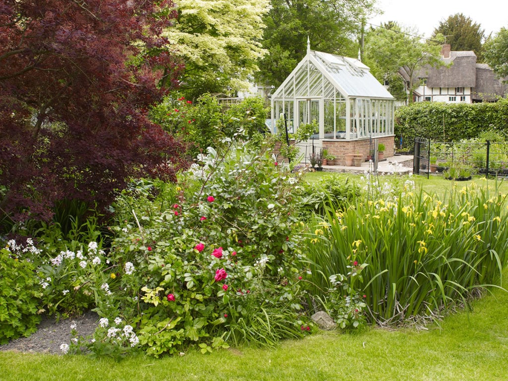 Victorian greenhouse in Oxford garden