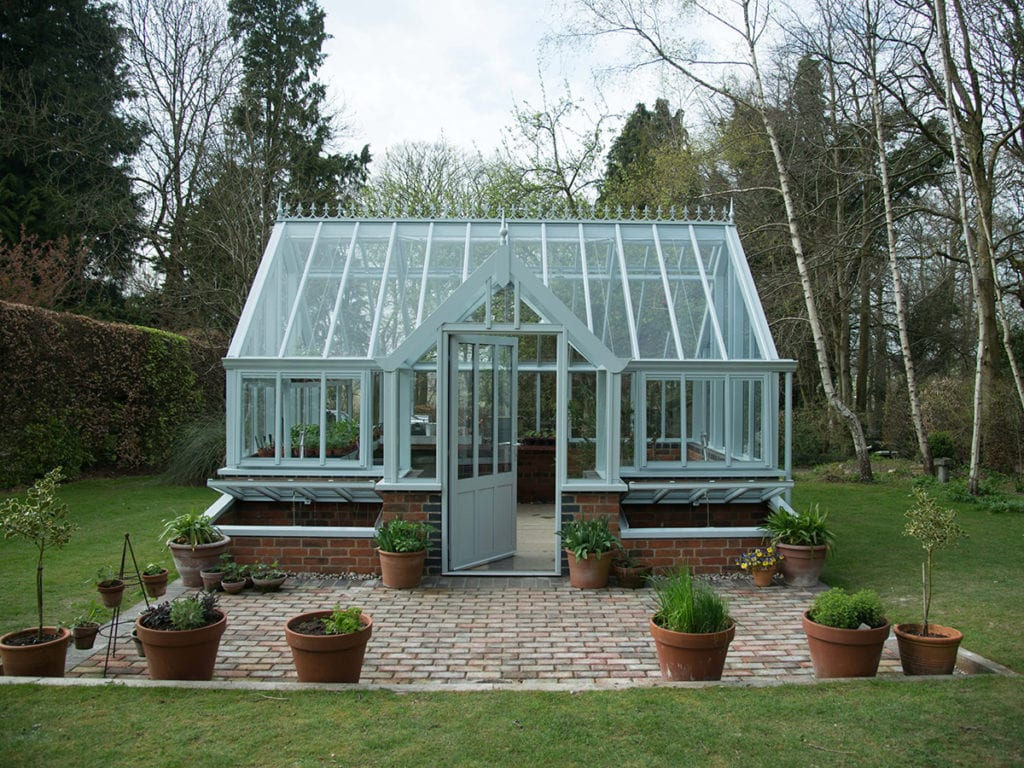 Beautiful aluminium greenhouse