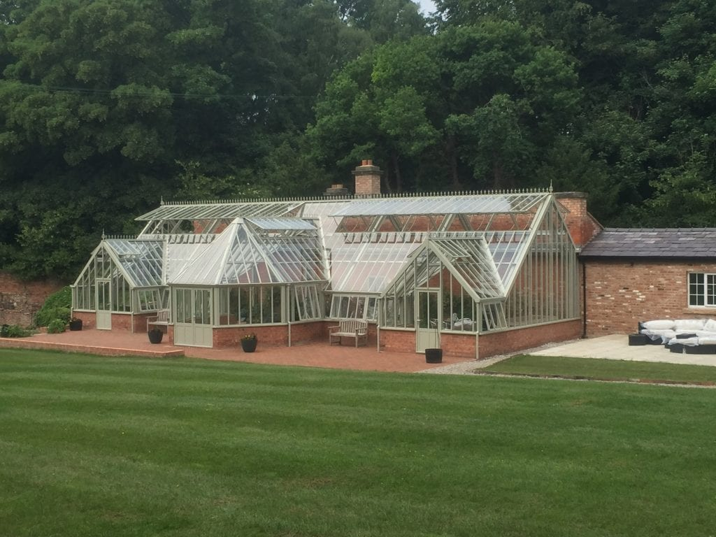 Large Victorian glasshouse in Cheshire